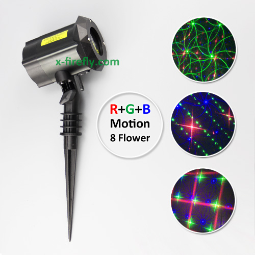 garden laser lights rgb motion 8 flower