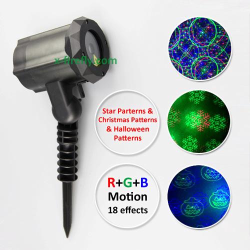 Garden Laser Lights RGB Motion Multiple Effects (3 in 1) X-37P-B-Z