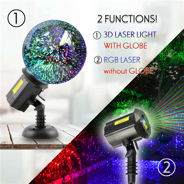 RGB Motion Laser Lights with 3D Globe
