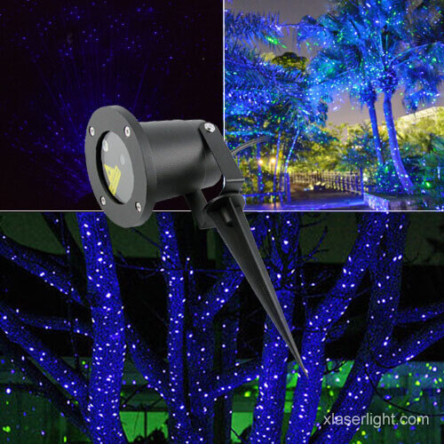 Garden Laser Light Blue